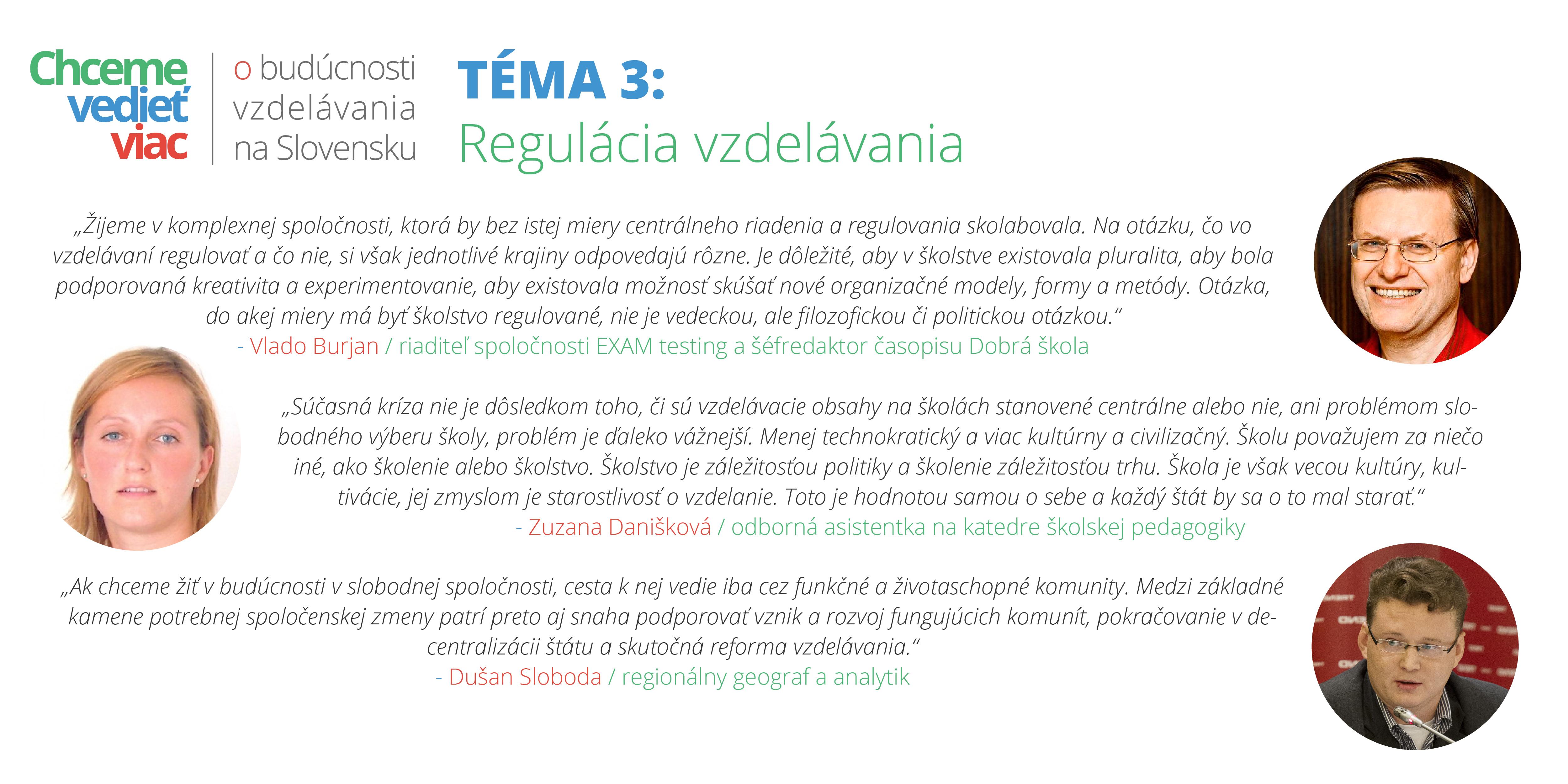 Téma 3: Regulácia vzdelávania