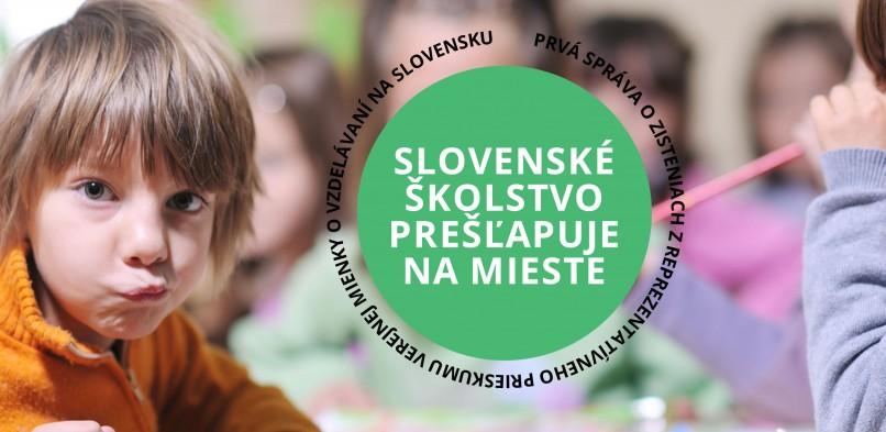 Slovenské školstvo prešľapuje na mieste