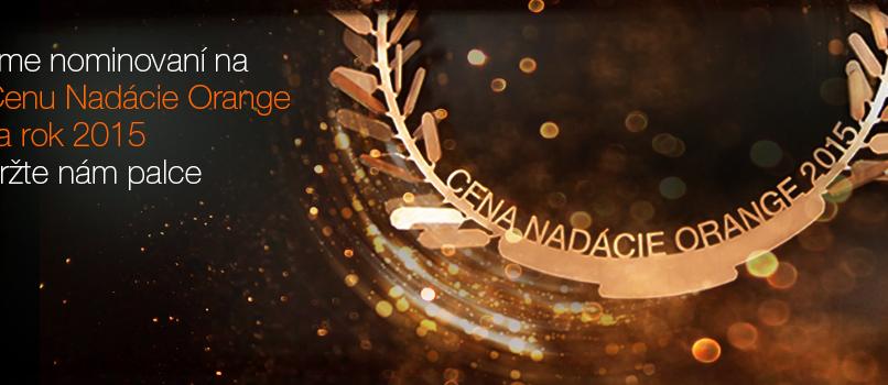 Sme nominovaní na cenu Nadácie Orange