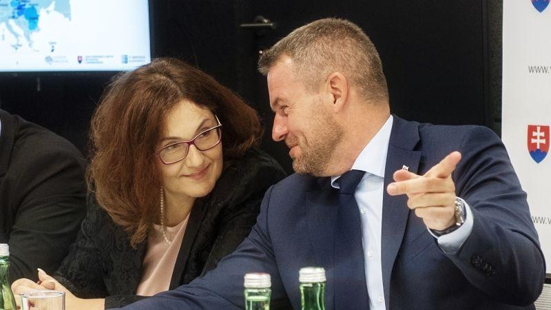 Martina Lubyová a Peter Pellegrini (TASR)